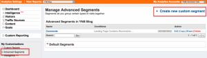 Creating Google Analytics Custom Segments