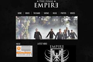 the final empire, dan morrell, jim mullin, band website, music wordpress, band theme