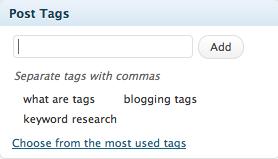 Where Do I add WordPress Post Tags